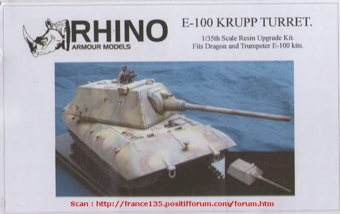 Tourelle Krupp pour E-100. Rhino Armour Models. 1/35. Conversion résine. TourelleKruppE-1001-35RAM1