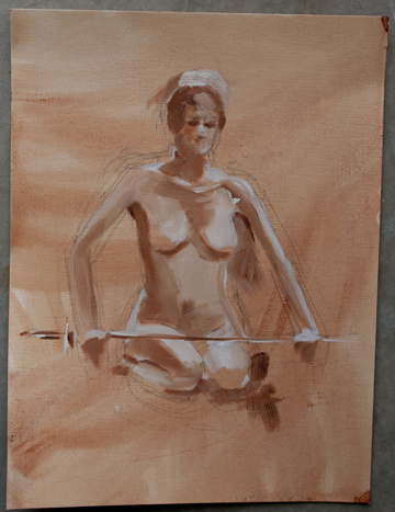 Two nude life painting sketches LifeErinJuly3120141sm