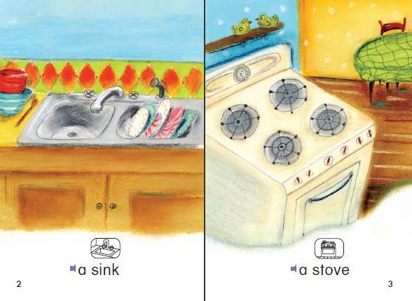 كتاب صغير لتعليمـ كلمات بعض الأشياء التي توجد بالمطبخ - A Kitchen AKitchen1