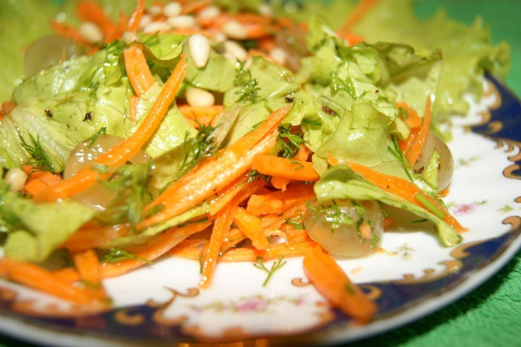 Морковный салат с виноградом _1-36