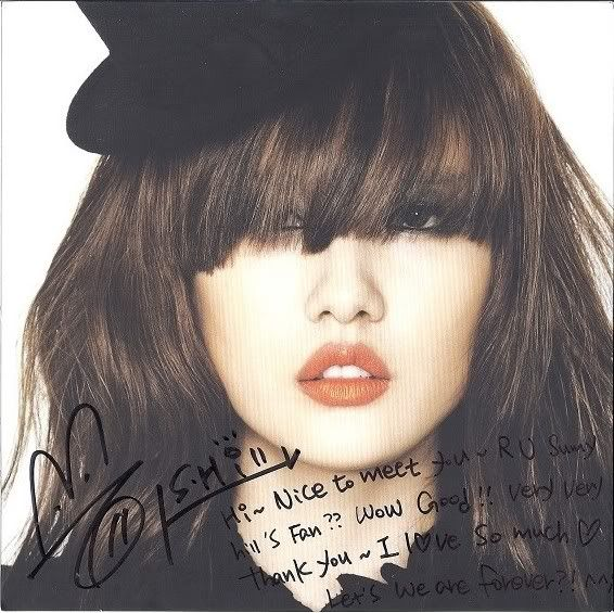 [PIC] SunnyHill signed album with my name on it :) SeungAh