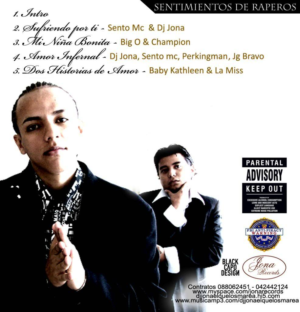 SENTIMIENTOS DE RAPEROS - DJ JONA (JONA RECORDS) CONTRAPORTADA-2