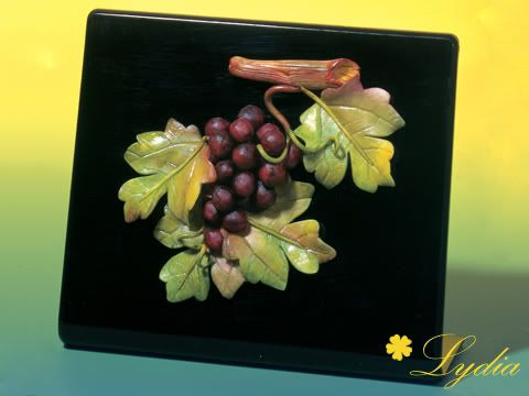 Uva in porcellana fredda U00