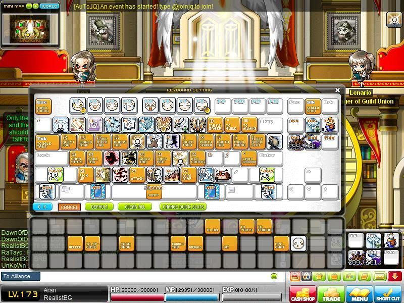 Post a screenshot of your in-game keyboard. Maple0011