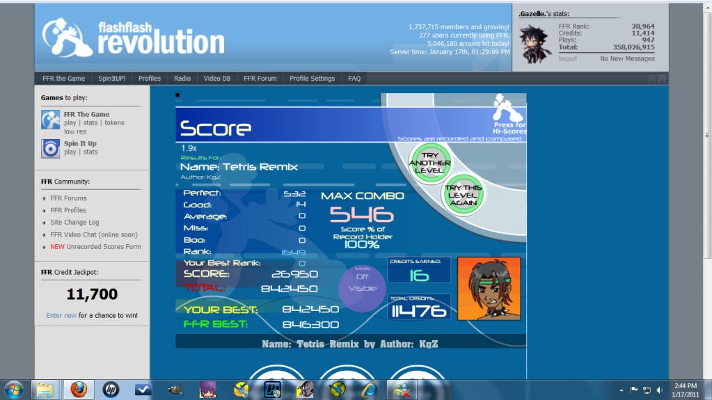 Post your FFR Scores here! - Page 10 TetrisRemix