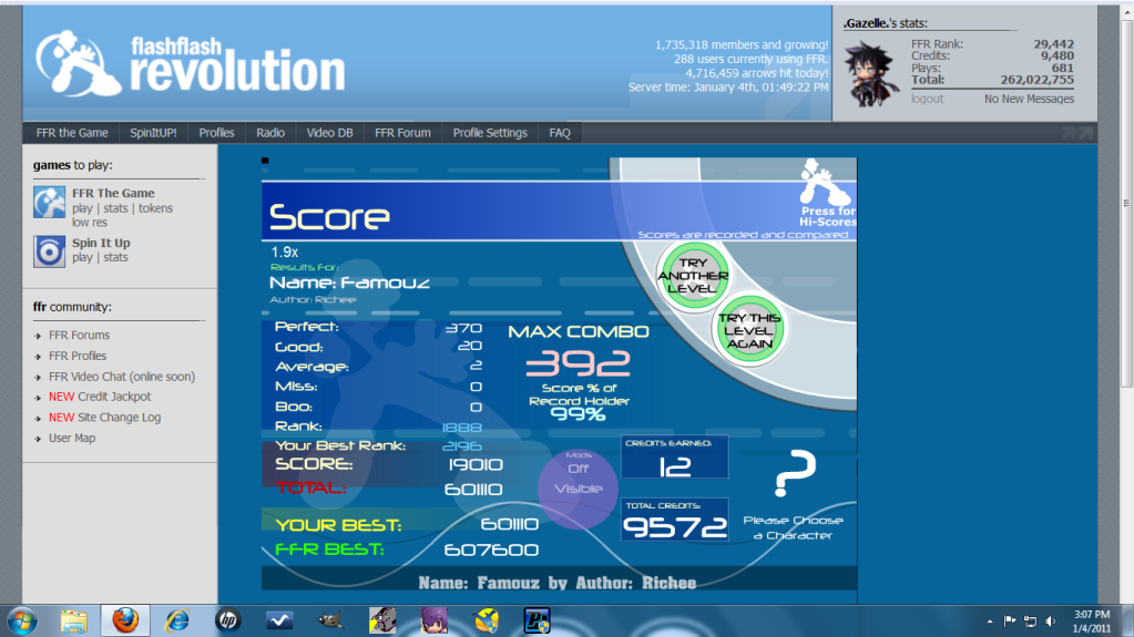 Post your FFR Scores here! - Page 10 Famous