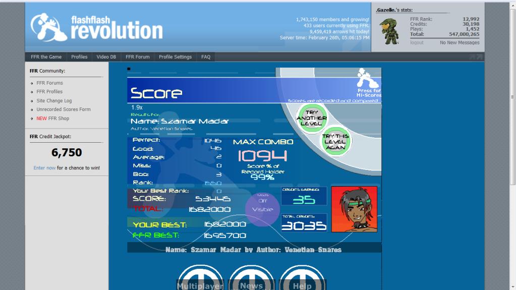 Post your FFR Scores here! - Page 12 Szmarmadar