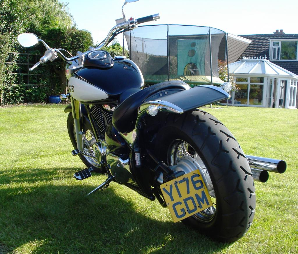 Updated - 2001 Suzuki VL 800 - bobbed & finished for this year DSC07795_zps13299306
