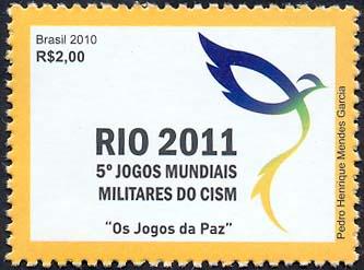 Emissions de Brésil - 2010 08-jogosmundiaismilitares