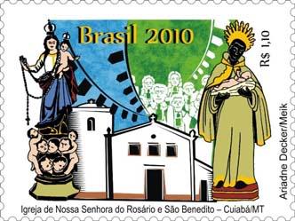 Emissions de Brésil - 2010 10-IgrejaNSRosarioeSoBenedito