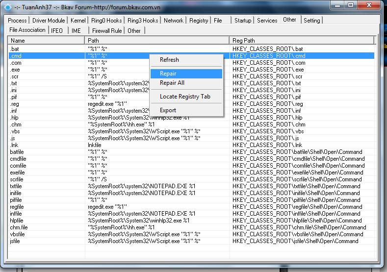 """Công cụ hỗ trợ diệt Virus """"bằng tay"""" siêu mạnh-XueTr [Anti-Virus & Rootkit] 006"""