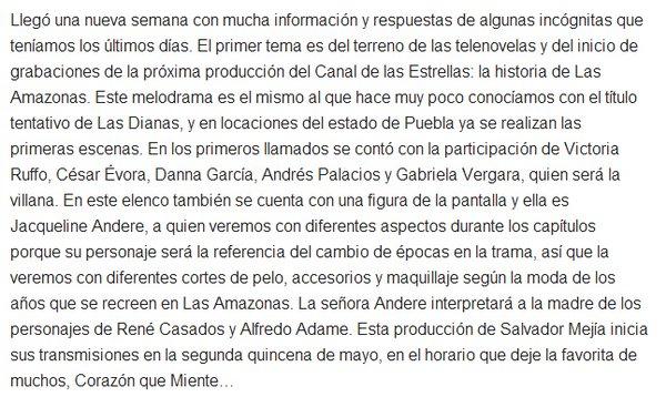 Las Amazonas(televisa2016) - Page 2 746effa755ee995cac3164c142b5c742