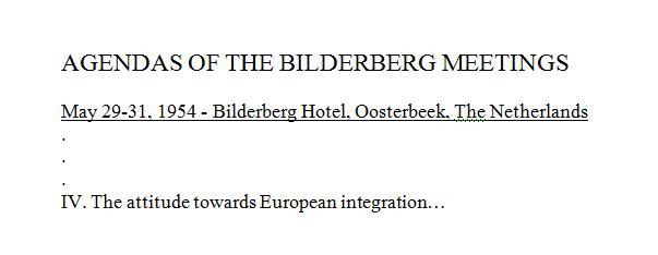 NOUVEL ORDRE MONDIAL : DE QUOI SE COMPOSE-T-IL, ET QUELS SONT SES BUTS ? Bilderberg_agenda_1954