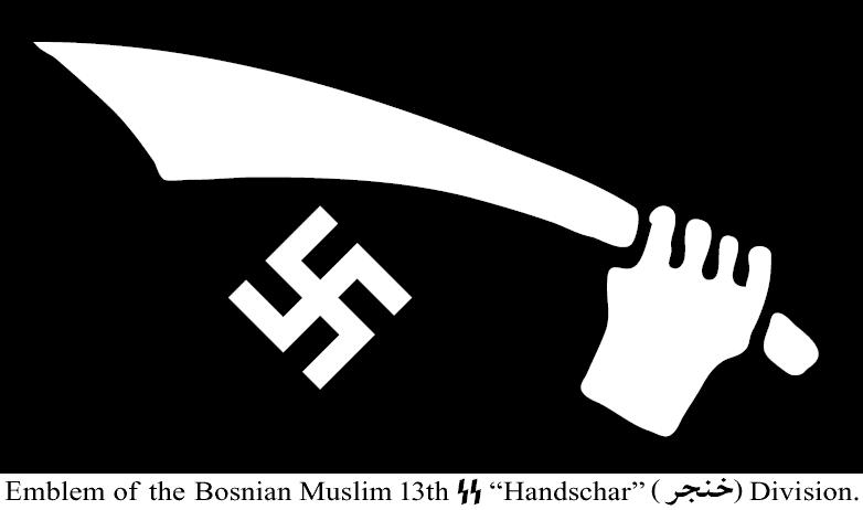 LA MONDIALISATION ET LES DANGERS DE L'ISLAM RADICAL Handschar-13th-SS-Division-Emblem