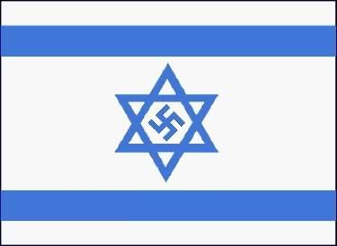 2011 : PISTAGE DES CITOYENS : SATELLITES, CAMERAS, SCANNERS, BASES DE DONNEES, IDENTITE & BIOMETRIE Israel-Nazi-flag3