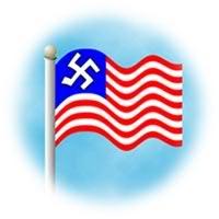 2011 : PISTAGE DES CITOYENS : SATELLITES, CAMERAS, SCANNERS, BASES DE DONNEES, IDENTITE & BIOMETRIE Nazi_US_flag-1
