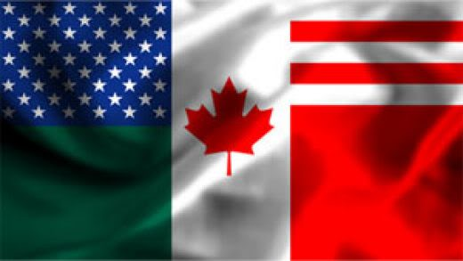 2011 : PISTAGE DES CITOYENS : SATELLITES, CAMERAS, SCANNERS, BASES DE DONNEES, IDENTITE & BIOMETRIE NorthAmericanUnionflag