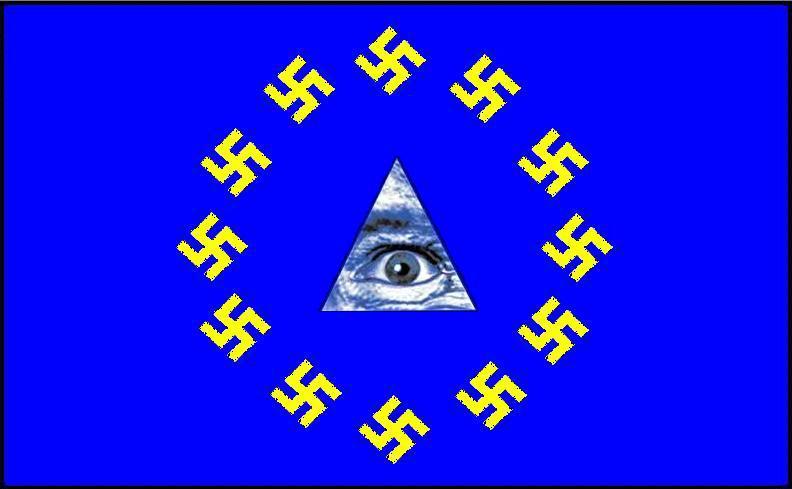 FASCISME, DICTATURE, ETAT-POLICIER, TERRORISME D'ETAT - Page 5 UE_drapeau_swastikas-NWO