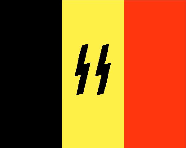 2011 : PISTAGE DES CITOYENS : SATELLITES, CAMERAS, SCANNERS, BASES DE DONNEES, IDENTITE & BIOMETRIE Belgium-nazi_flag