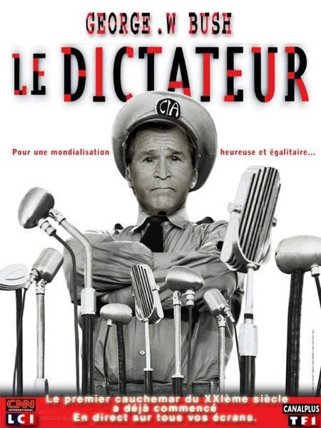 DEPOPULATION VIA LES OGM, LES PESTICIDES, LA DEFORESTATION ET LA POLLUTION DE NOTRE NOURRITURE ET DE NOS EAUX Dictateur_bush