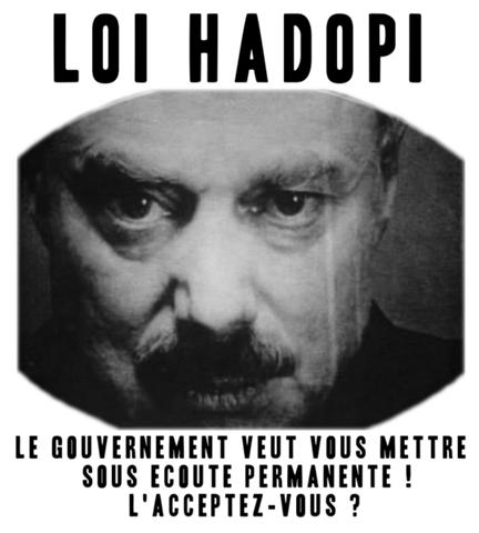 SUPPRESSION DES LIBERTES DU WEB Hadopi-1