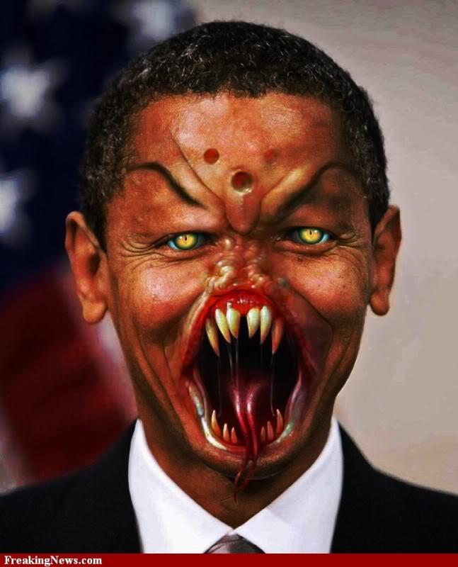 FASCISME, DICTATURE, ETAT-POLICIER, TERRORISME D'ETAT - Page 5 Obama-monster