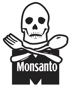 DEPOPULATION VIA LES OGM, LES PESTICIDES, LA DEFORESTATION ET LA POLLUTION DE NOTRE NOURRITURE ET DE NOS EAUX - Page 3 Monsanto-skull-and-bones