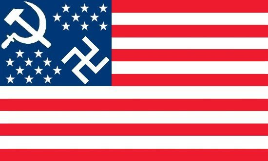 SUPPRESSION DES LIBERTES DU WEB - Page 2 Nazi-communist-american_flag-4