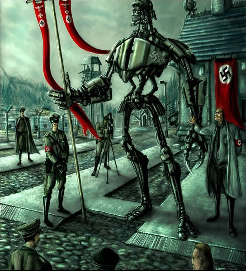 2011 : PUCES IMPLANTABLES, RFID, NANOTECHNOLOGIES, NEUROSCIENCES, N.B.I.C. ET CYBERNETIQUE ! Nazi-super-robot