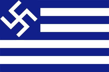 FASCISME, DICTATURE, ETAT-POLICIER, TERRORISME D'ETAT - Page 5 Nazigreekflag-1