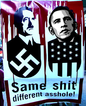 2012 : PISTAGE DES CITOYENS : SATELLITES, CAMERAS, SCANNERS, BASES DE DONNEES, IDENTITE & BIOMETRIE Obama_hitler