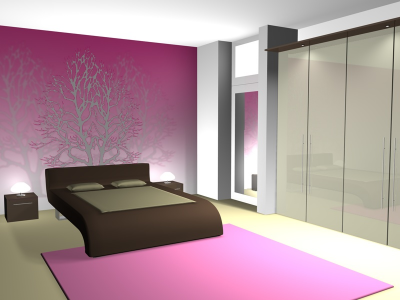 Ariel`s Apartment No. 6 L4995a3e387170Wandmalerei-in-Schlafzimmer