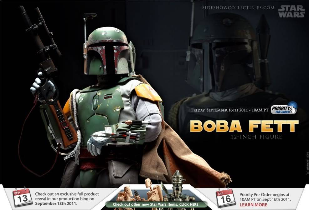 Sideshow - Boba Fett ESB - 12 inch Figure Boba