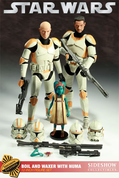 Sideshow - Boil & Waxer with Numa 12' figurines 1000121_press02-001