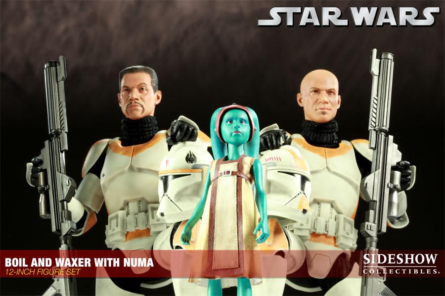 Sideshow - Boil & Waxer with Numa 12' figurines 100012_press02-001