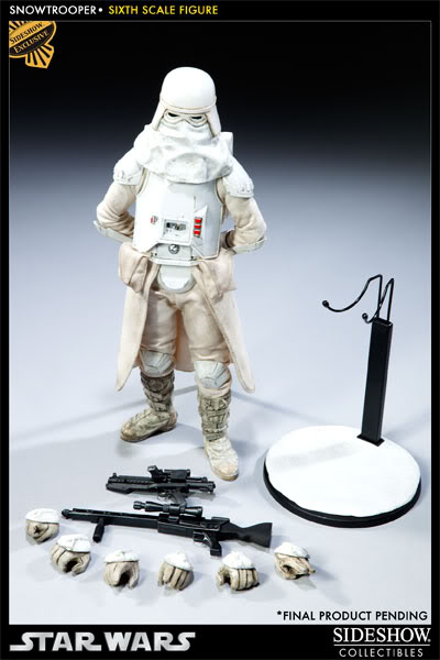"""Sideshow Collectibles - 12"""" - Snowtrooper Hoth Battle  1000301_press01-001"""