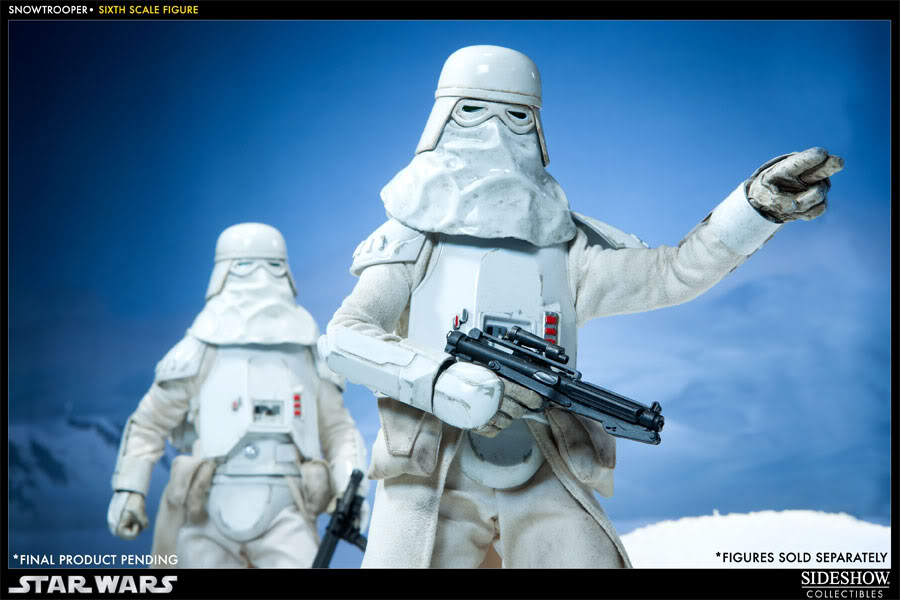 """Sideshow Collectibles - 12"""" - Snowtrooper Hoth Battle  100030_press03-001"""