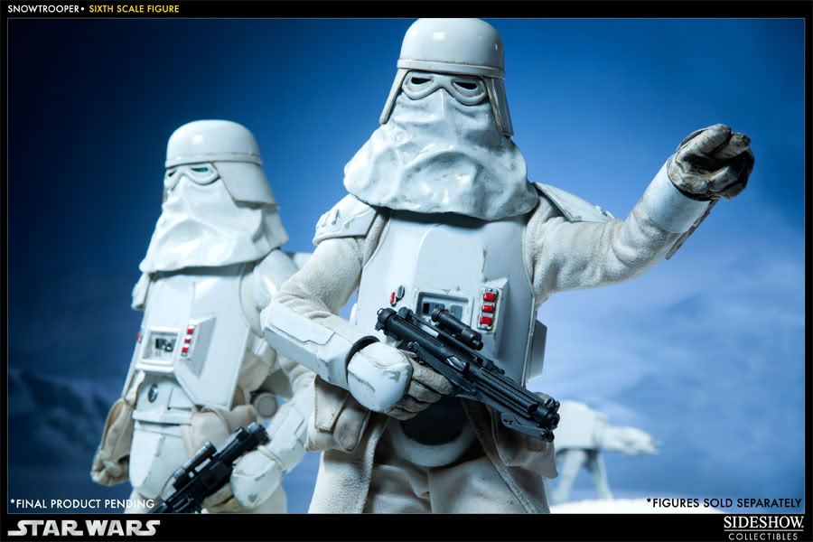 """Sideshow Collectibles - 12"""" - Snowtrooper Hoth Battle  100030_press06-001"""