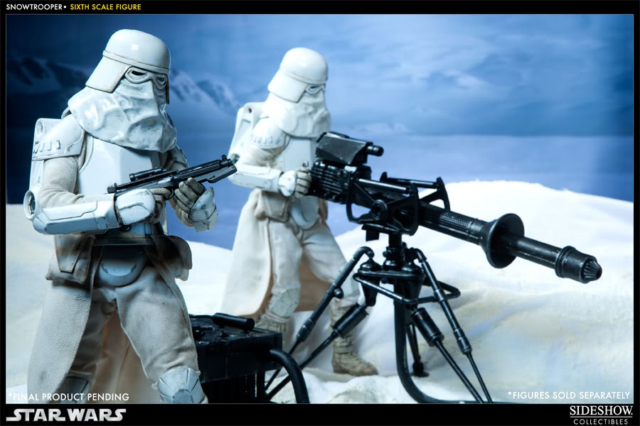 """Sideshow Collectibles - 12"""" - Snowtrooper Hoth Battle  100030_press08-001"""
