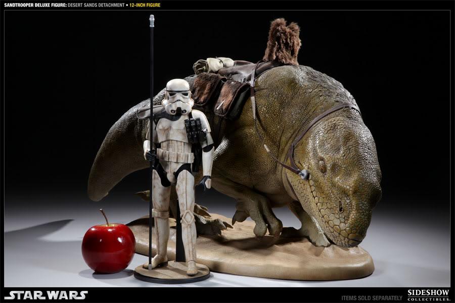 Sideshow - Sandtrooper Deluxe Figure & Dewback - 12' 100055_press09-001