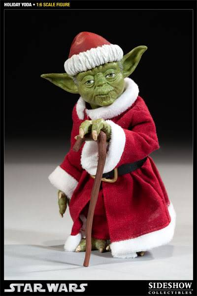 Sideshow -Yoda (Holiday Version) 12 inch Figure 100087_press04-001