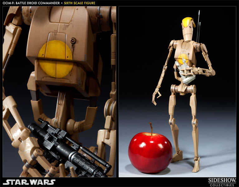 Sideshow - OOM-9 Battle Droid Commander - 12 inch Figure 100108_press03-001