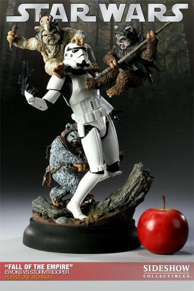 """Fall of the Empire"" – Ewoks vs. Stormtrooper Diorama 200042_press02-001"