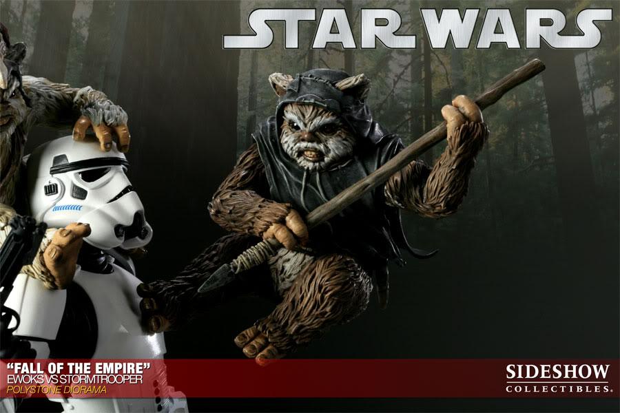 """Fall of the Empire"" – Ewoks vs. Stormtrooper Diorama 200042_press03-001"