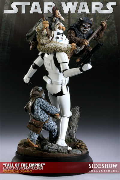 """Fall of the Empire"" – Ewoks vs. Stormtrooper Diorama 200042_press07-001-1"