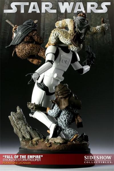 """Fall of the Empire"" – Ewoks vs. Stormtrooper Diorama 200042_press09-001"