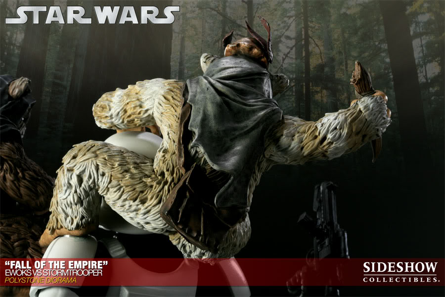"""Fall of the Empire"" – Ewoks vs. Stormtrooper Diorama 200042_press11-001"
