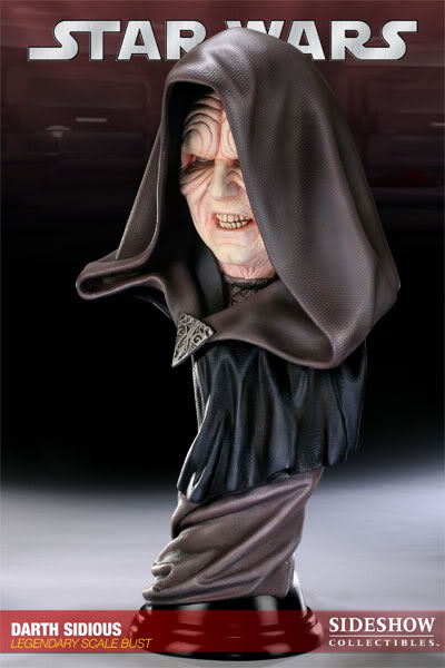 Sideshow - Darth Sidious Legendary Scale Bust – Star Wars  200048_press03-001