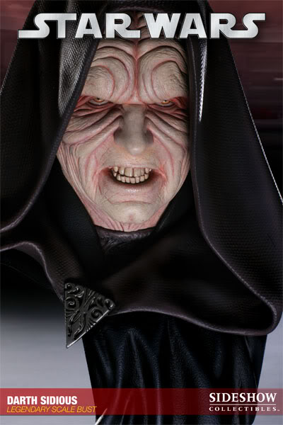 Sideshow - Darth Sidious Legendary Scale Bust – Star Wars  200048_press05-001