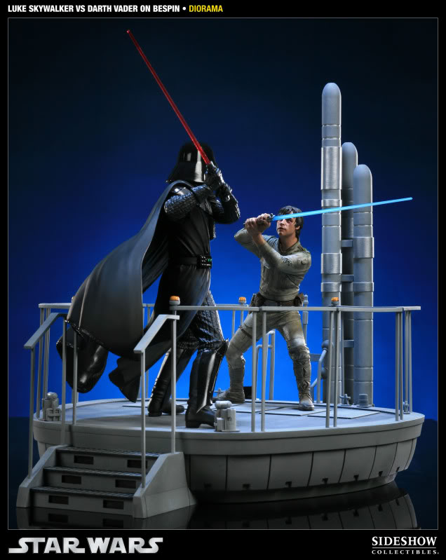 Sideshow - Luke Skywalker VS Darth Vader on Bespin Diorama 200050_press01